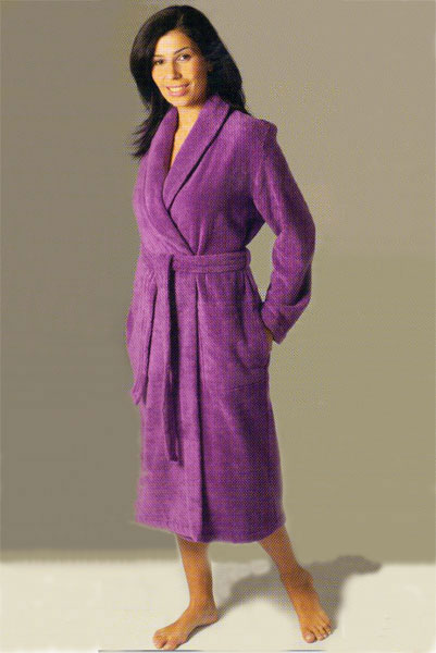 f4aadb3ef5911 Женский махровый халат длинный с воротником шалькой