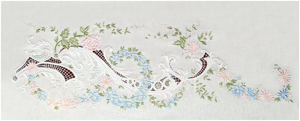 Рисунки для скатерти вышивка гладью