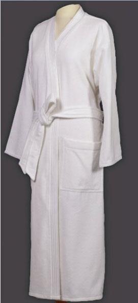 Белые махровые халаты унисекс