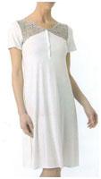 Женская ночная сорочка с короткими рукавами