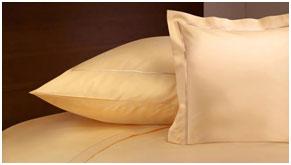 Однотонное постельное белье из сатина, цвет абрикосовый