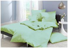 Однотонное постельное белье из сатина, цвет салатовый
