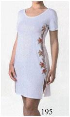 Красивая женская короткая ночная сорочка из вискозы MicroModal с вышивкой