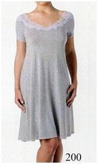 Женская короткая ночная сорочка из вискозы MicroModal