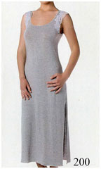 Женская ночная сорочка большого размера длинная из вискозы MicroModal
