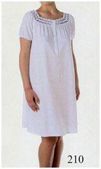Женская трикотажная ночная сорочка из хлопка