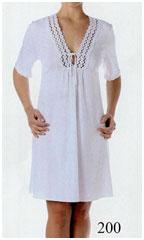 Белая ночная сорочка из хлопка, трикотаж
