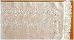 Образец 1 вышивки для постельного белья новорожденным