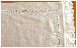 Образец 5 вышивки для постельного белья новорожденным