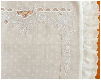 Образец 6 вышивки для постельного белья новорожденным