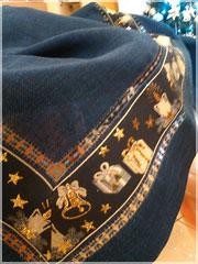 Новогодняя скатерть с мережкой и вышивкой