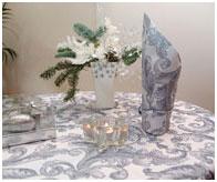 Новогодняя скатерть и салфетка Asanto, жаккард с люрексом
