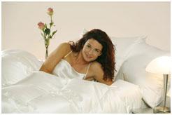 Пуховое одеяло в шелке