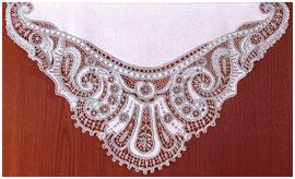 Снежная королева - кружево, вышивка (серебро) Кадомский вениз