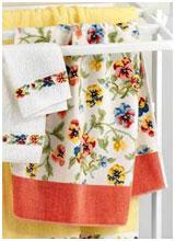 Шенилловые полотенца Viola weiss