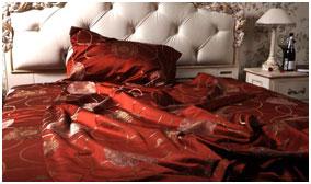 Шелковое постельное белье с люрексом Versailles, жаккард